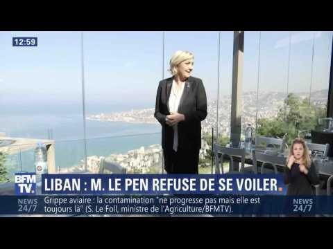 Marine Le Pen refuse de porter le voile au Liban - ZAPPING ACTU DU 21/02/2017
