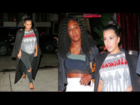 Kim Kardashian et Serena Williams vont dîner ensemble