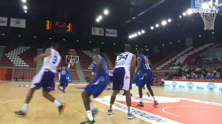 Le Rouen Métropole basket s'est fait sortir par Paris-Levallois (78-82)