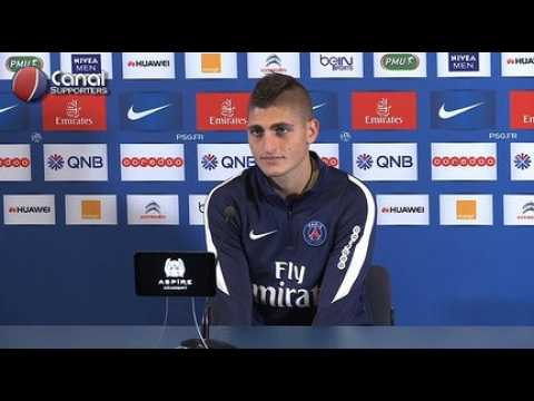 Nantes / PSG - La confe?rence de presse de Marco Verratti