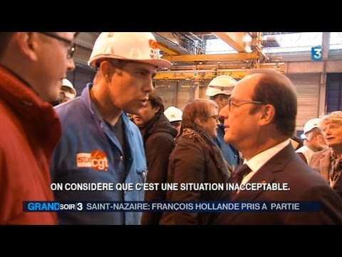 Un syndicaliste refuse de serrer la main de François Hollande - ZAPPING ACTU DU 14/10/2015