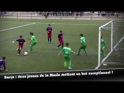 Barça : deux jeunes de la Masia mettent un but exceptionnel !