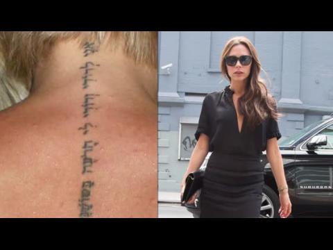 Victoria Beckham se fait enlever son tatouage