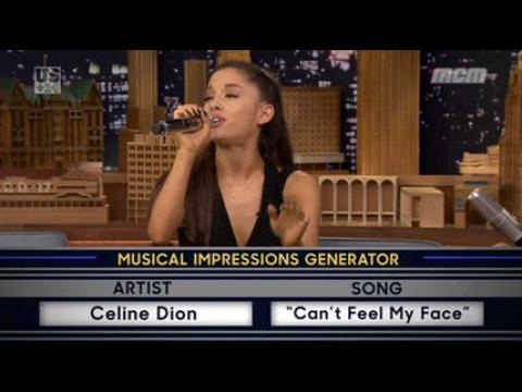 Quand Ariana Grande imite Céline dion - ZAPPING PEOPLE DU 17/09/2015