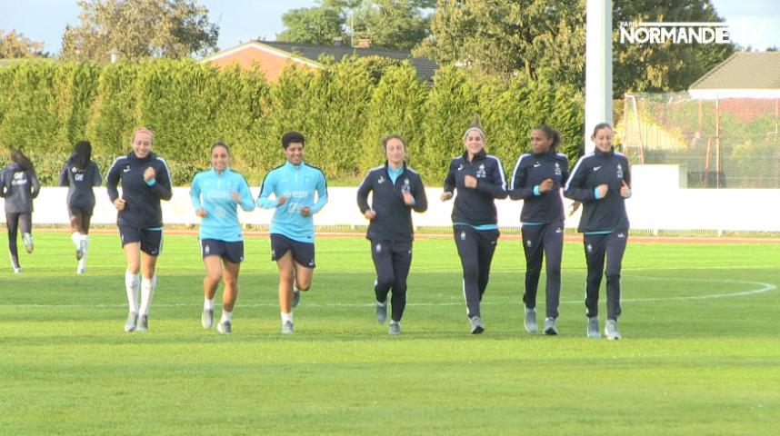 L'équipe de France de foot féminine se prépare à affronter le Brésil, samedi au stade Océane