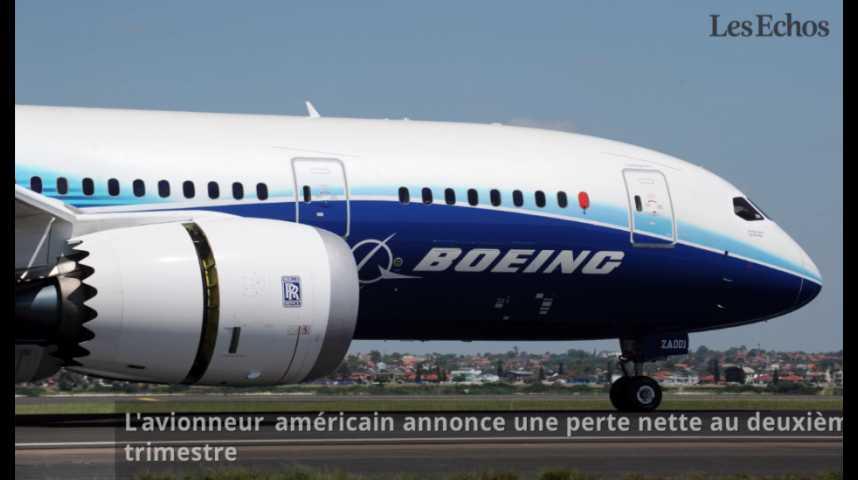 Illustration pour la vidéo Boeing : première perte trimestrielle depuis 7 ans