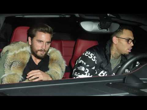 Scott Disick et Chris Brown font la fête à Hollywood