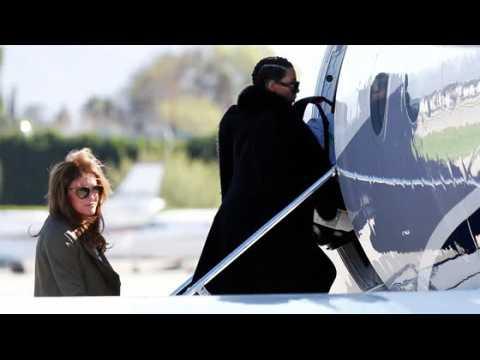 Kim Kardashian et sa famille s'envolent de Los Angeles