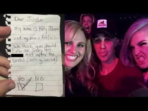 Rebel Wilson et Kelly Osbourne ont demandé un rancard à Justin Bieber au concert de JLo