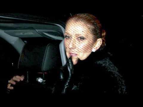 Céline Dion salue ses proches aux funérailles de son mari