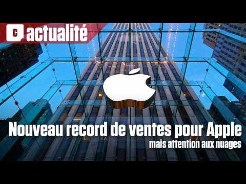Nouveau record de ventes pour Apple, mais attention aux nuages