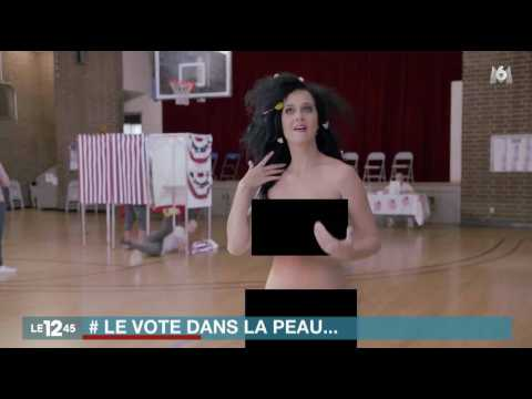 Katy Perry se déshabille pour inciter les Américains à voter - ZAPPING ACTU DU 28/09/2016