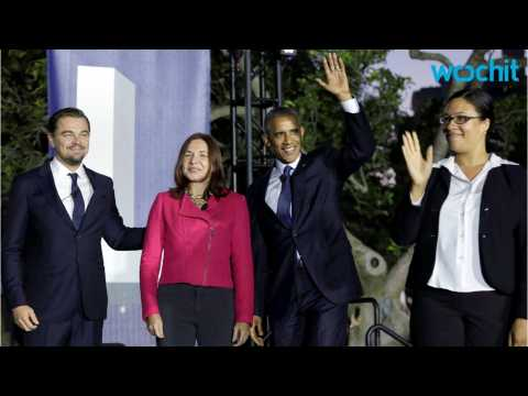Leonardo DiCaprio Talks Climate Change with President Obama