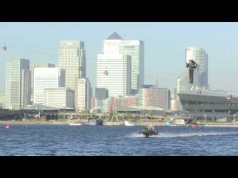 UK's first jetpack flight blasts off above London