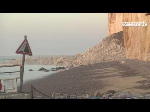 Une falaise s'écroule en Seine-Maritime