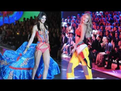 Gigi Hadid, Kendall et Caitlyn Jenner au défilé de Victoria's Secret