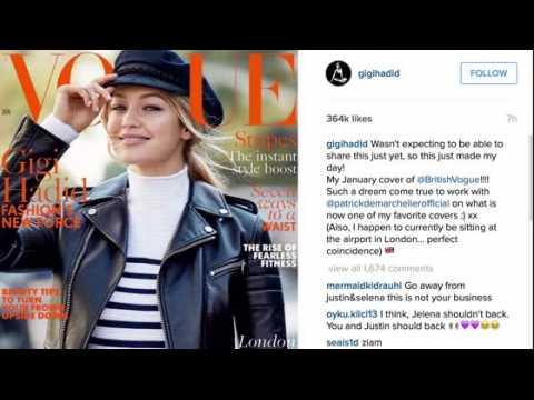 Gigi Hadid fait la couverture de Vogue Angleterre du mois de janvier