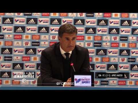 OM - FCL ((1-1): La réaction de l'entraineur de l'OM, Michel