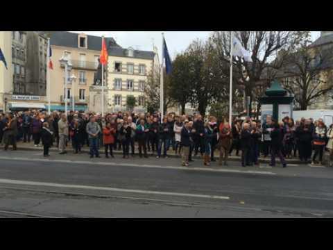 Attentats de Paris, minute de silence à Granville