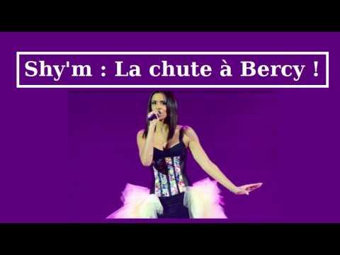 Shy'm assure son concert à Bercy (quasi vide) et fait une chute
