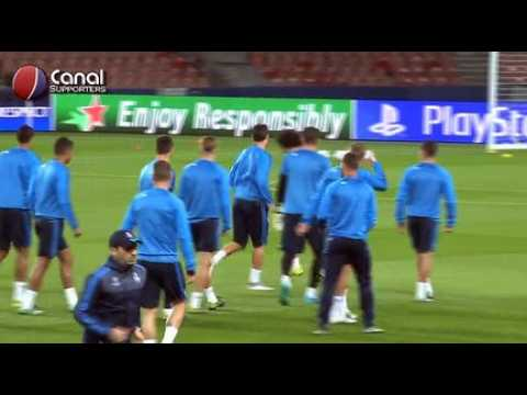 Entrainement du Real Madrid au Parc des Princes