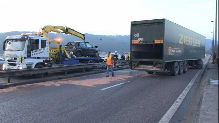 Accident A150 : pas de blessés graves mais d'importants bouchons