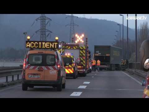 Accident A150 : pas de blessés graves mais d'importants bouchons