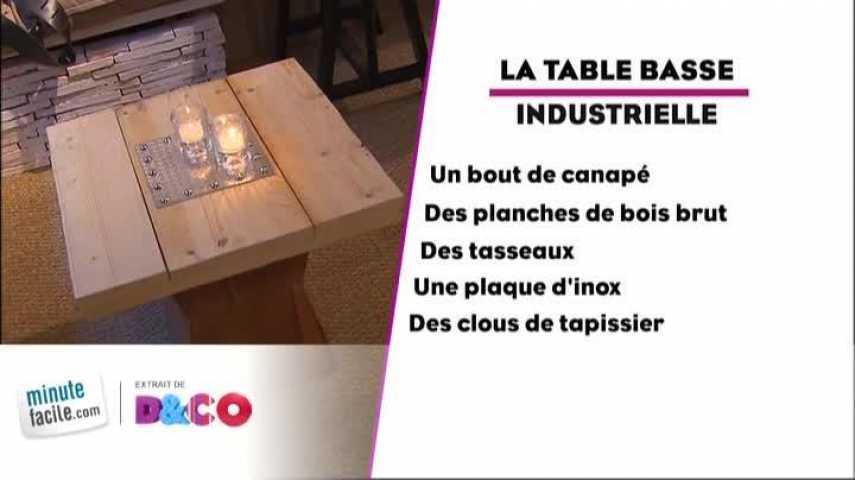 Comment Décorer Une Table Basse Style Industriel ? - Minutefacile.Com