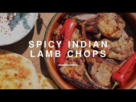 Indian BBQ Lamb Chops w Hersha Patel & DJ BBQ   Wild Dish