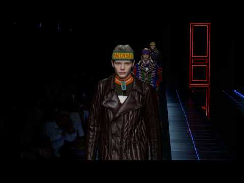 Fendi - Menswear collection Autumn/Winter 2017/18 in Milan (with interview)
