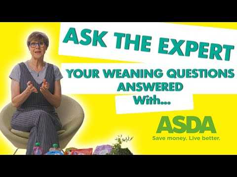 Ask the expert: your weaning questions answered with Rachel FitzD and ASDA