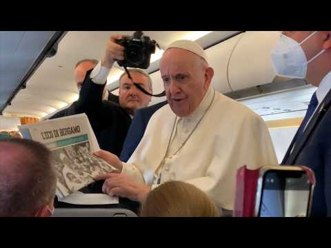 Pope happy to be travelling again