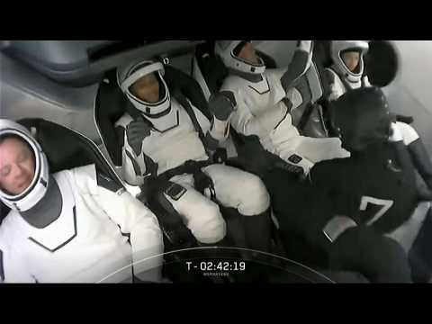 SpaceX civilian crew enters capsule for Inspiration4 mission launch