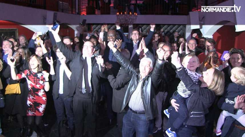 Beaucoup de joie chez les soutiens de Macron en Seine-Maritime
