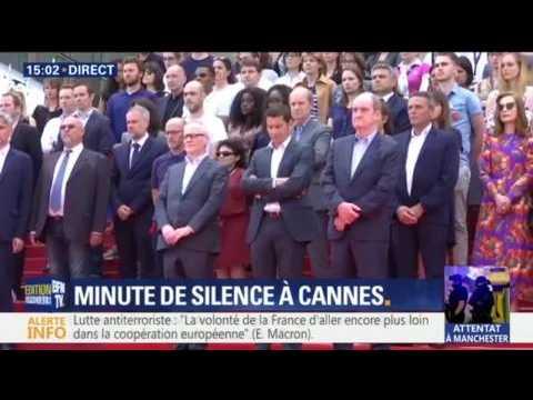 Une minute de silence observée à Cannes pour les victimes de l'attentat de Manchester