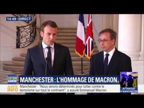 """Attentat de Manchester: """"Il faut aller encore plus loin dans la coopération européenne"""", dit Emmanuel Macron"""