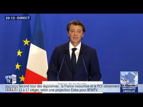 François Baroin reconnaît la défaite de la droite et du centre aux législatives