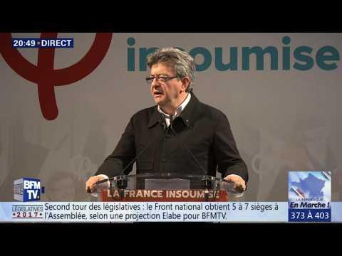 """Jean-Luc Mélenchon annonce la création d'un groupe """"La France insoumise"""" à l'Assemblée"""