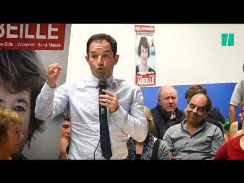 """Hamon raille les socialistes qui veulent """"servir de cabane à jardin au château de Macron"""""""