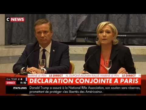 Marine Le Pen : Nicolas Dupont-Aignan sera son Premier ministre en cas de victoire (Vidéo)