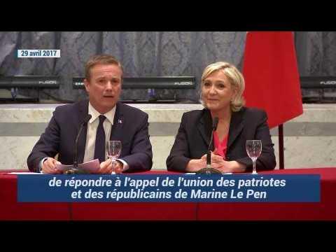 Comment le discours de Nicolas Dupont-Aignan a évolué sur le Front national