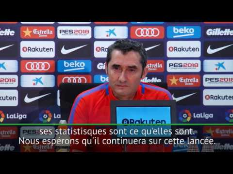 "6e j. - Valverde : ""Messi est unique"""