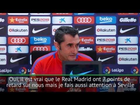 """6e j. - Valverde : """"Le Real Madrid ? Seule mon équipe m'importe"""""""