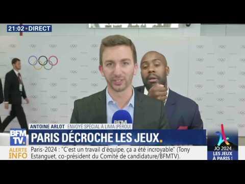 Teddy Riner perturbe un duplex sur BFM TV - ZAPPING TÉLÉ DU 14/09/2017