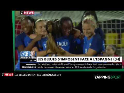 Zap Sport du 19 Septembre : L'équipe de France féminine de football bat l'Espagne
