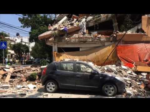 """Les Mexicains ont senti un """"terrible"""" séisme à Mexico"""