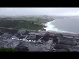 Acción de Greenpeace en el gigantesco parque de minerales de Aboño - El Musel, Asturias