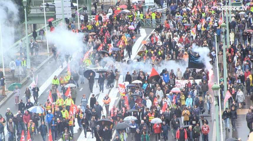 """Loi travail """"XXL"""", les Normands dans la rue"""