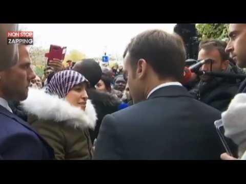 Emmanuel Macron : Interpellé par une Marocaine, il lui demande de rentrer dans son pays (Vidéo)