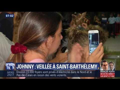 BFM TV, Dernière veillée autour de la dépouille de Johnny Hallyday à Saint-Barthélemy